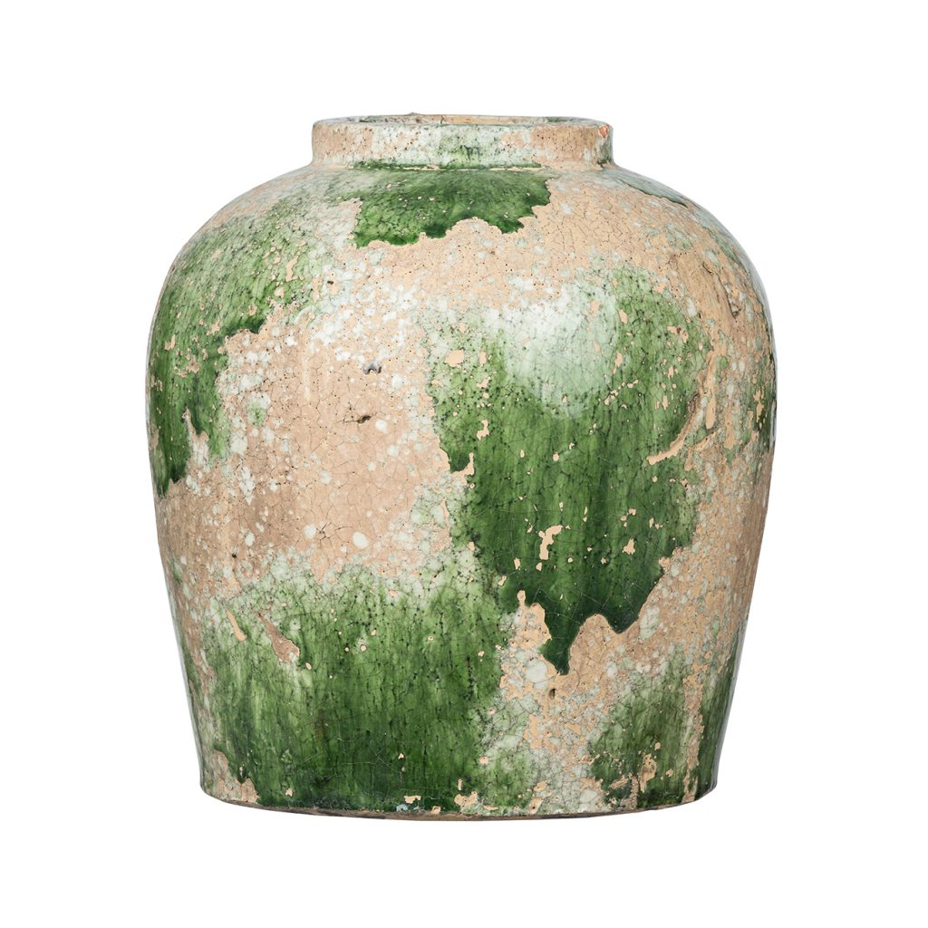 Green and Tan Vase