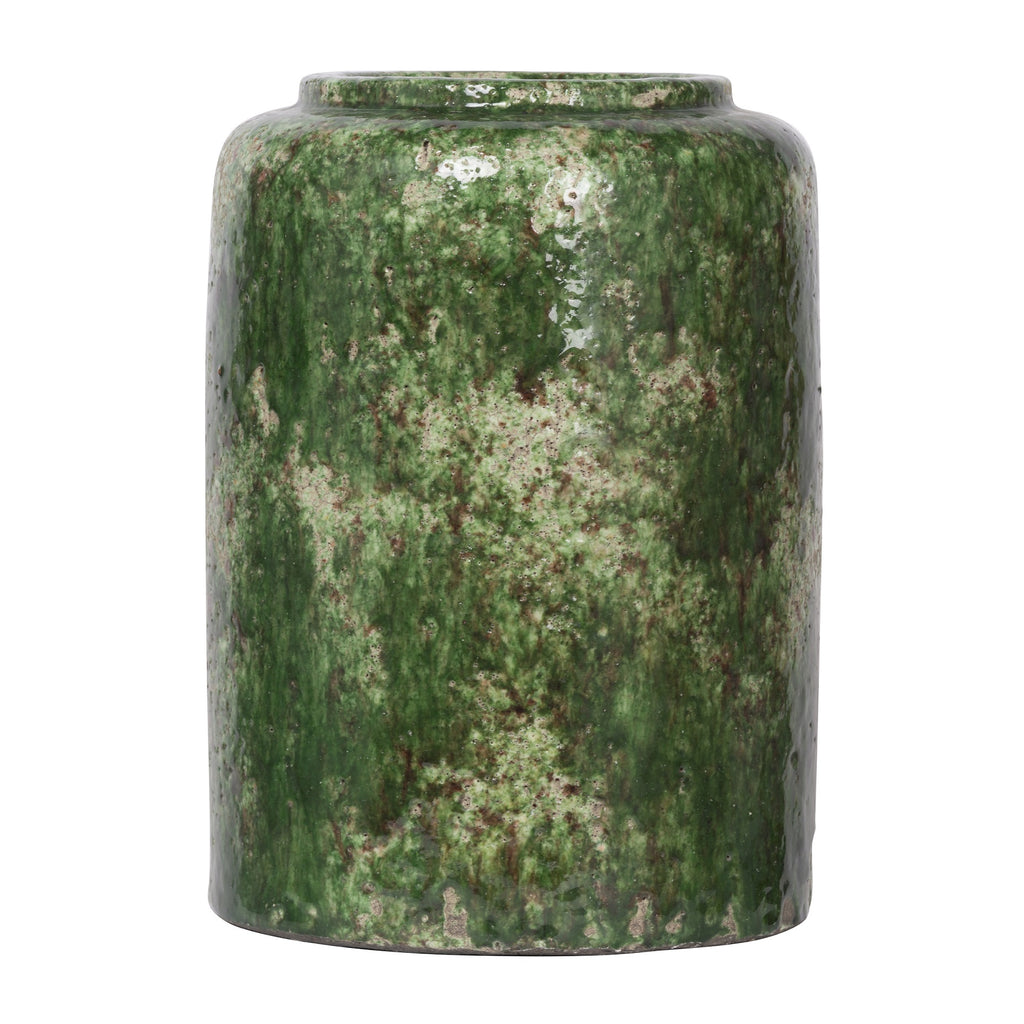 Green Terracotta Glazed Vase Small