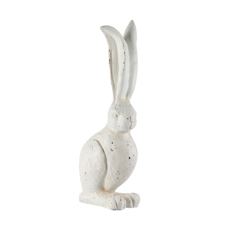 Whimsical White Bunny