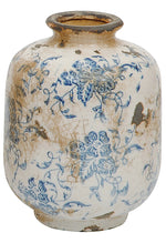 Blue and White Terra Cotta Vases