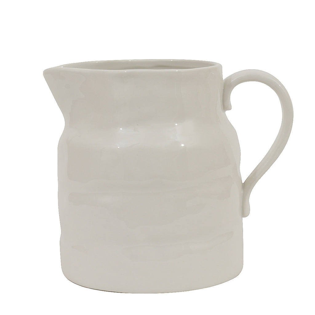 White Vintage Style Pitcher