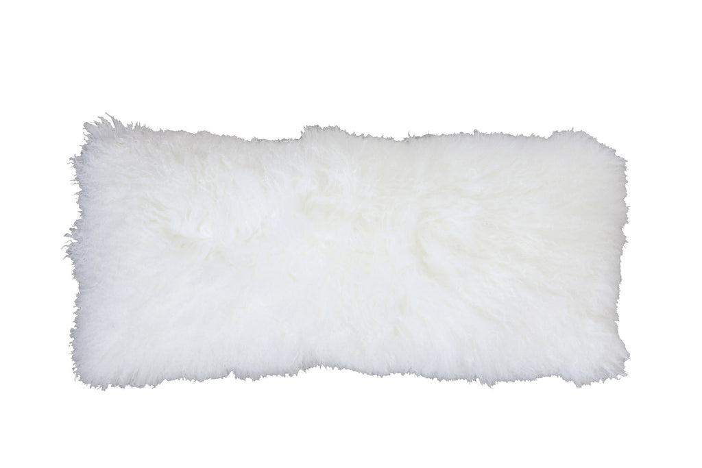 Mongolian Lamb Fur Lumbar Pillow