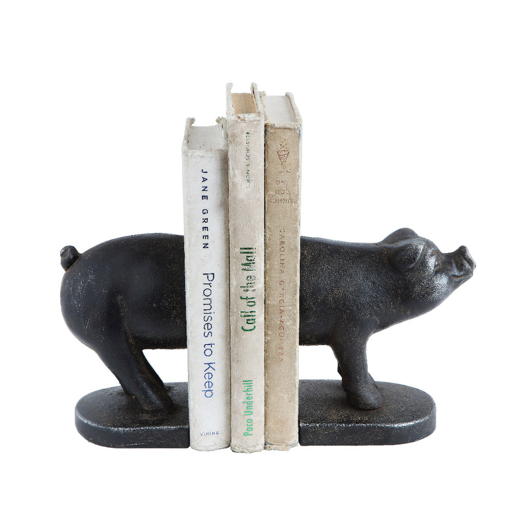 Iron Pig Bookends