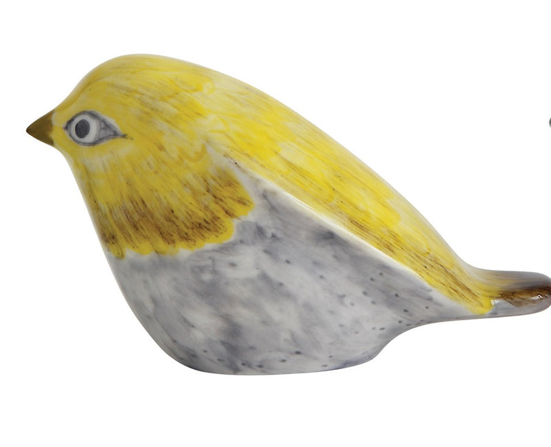 Hand Painted Stoneware Birds
