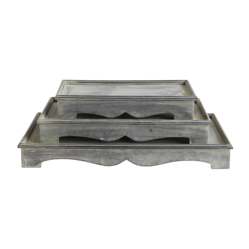 Galvanized Metal Tray Pedestals