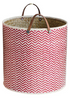 Chevron Palm Leaf Basket