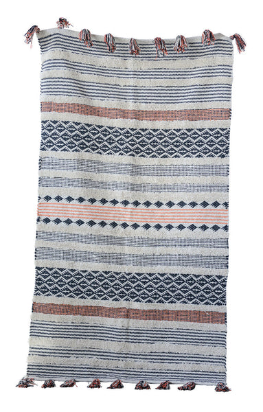 Striped Cotton Woven Rug