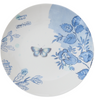 Round Blue and White Stoneware Plate