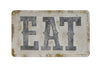 Embossed Eat Metal Wall Decor