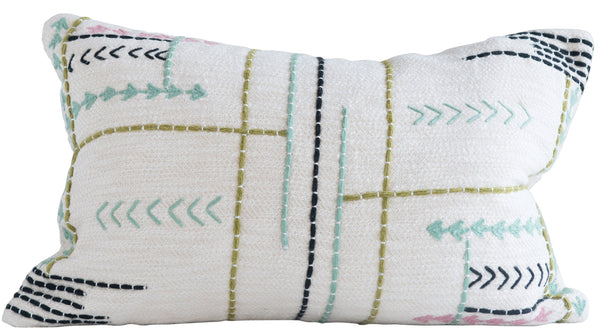 Zeb Embroidered Pillow
