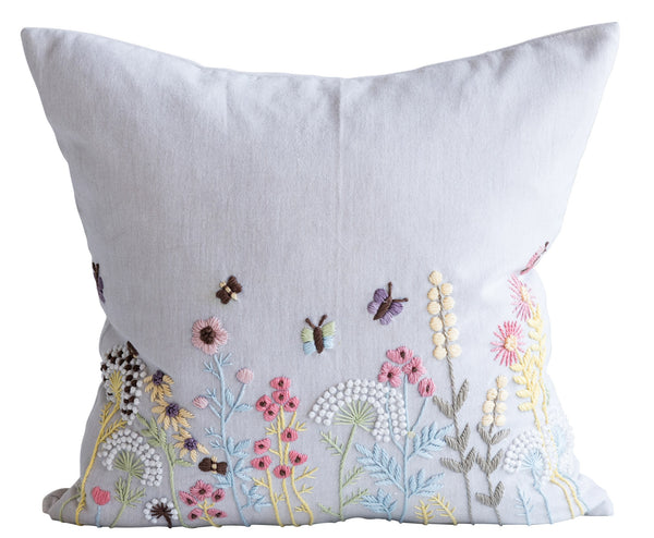 French Knot Flower Pillow