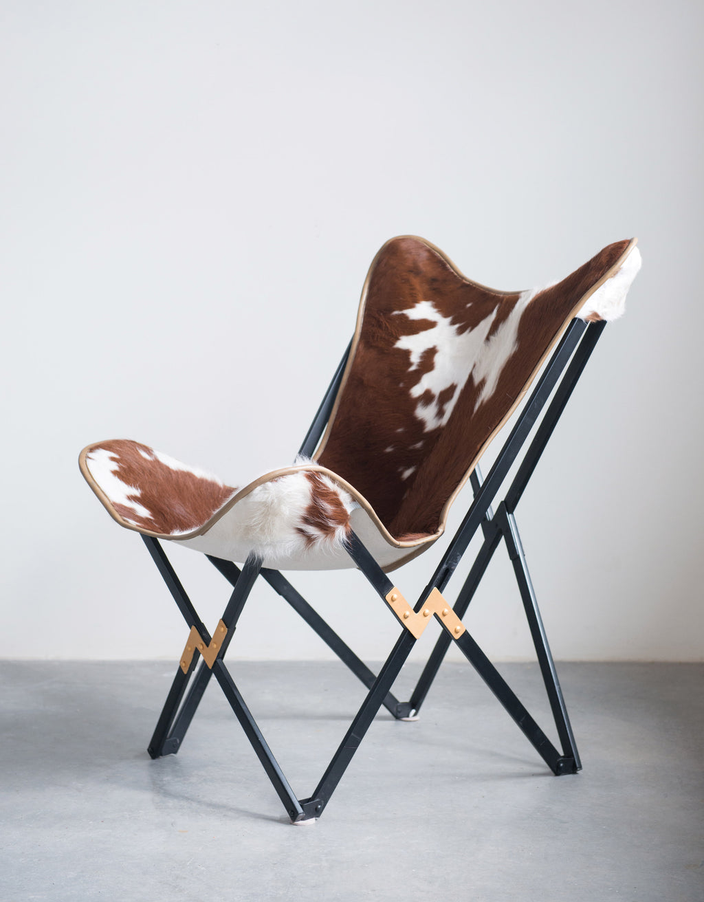 Cowhide Butterfly Folding Chair