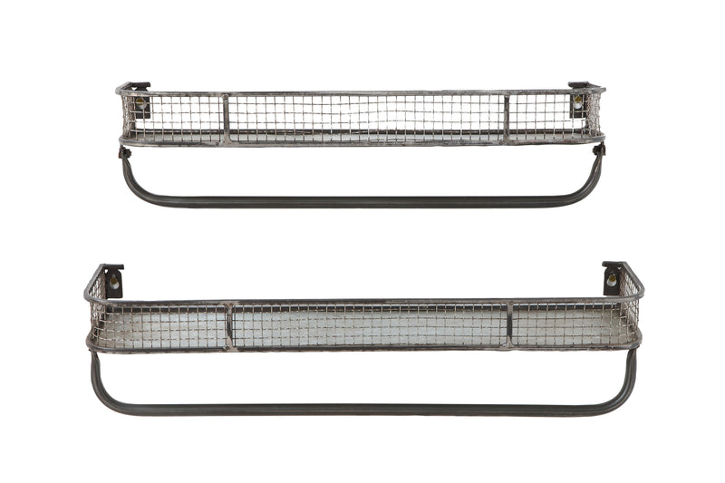 Set of Metal Wall Shelves