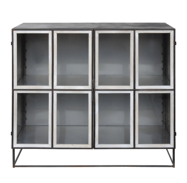 Pano Glass and Metal Cabinet