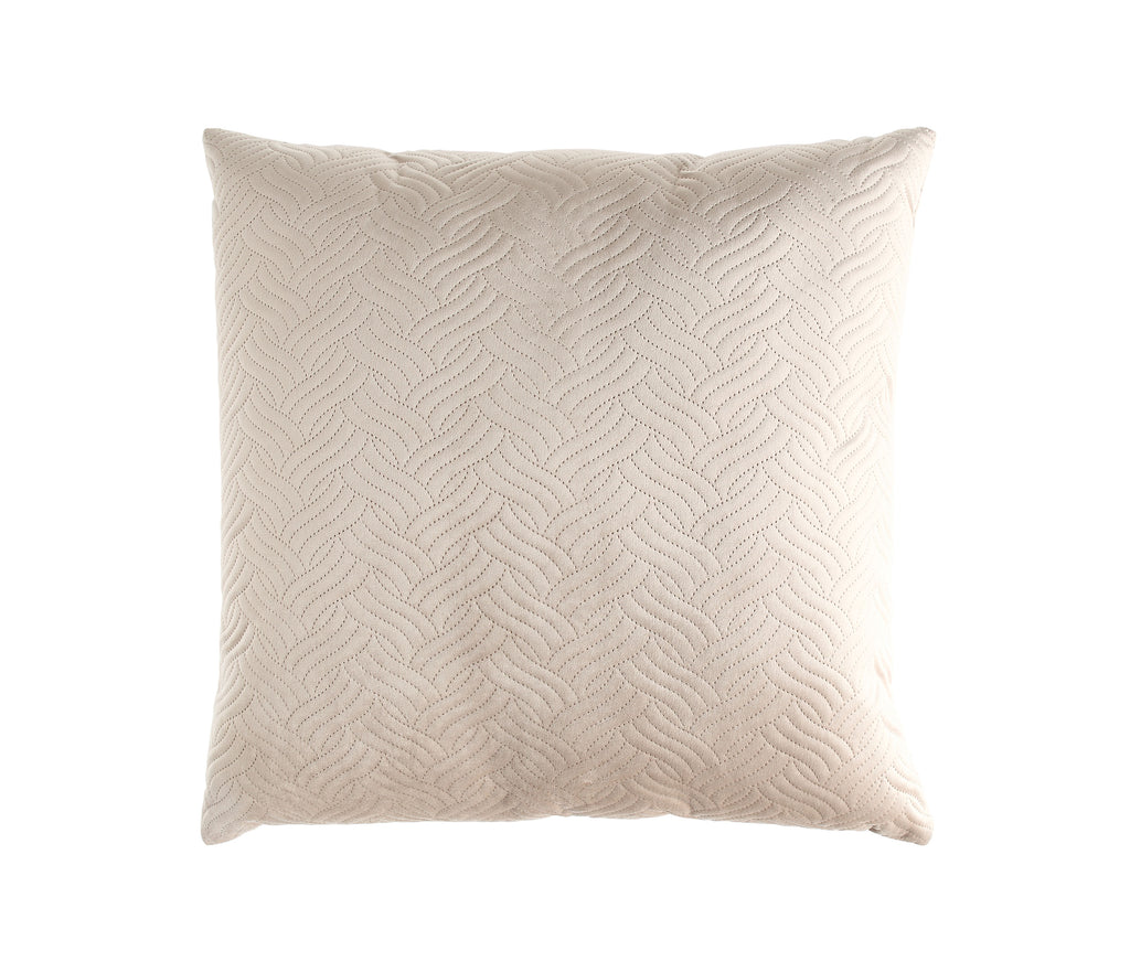 Soft Quilted Cream Pillow