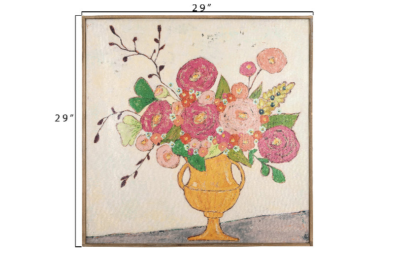 Flowers in Amphora Vase Framed Canvas