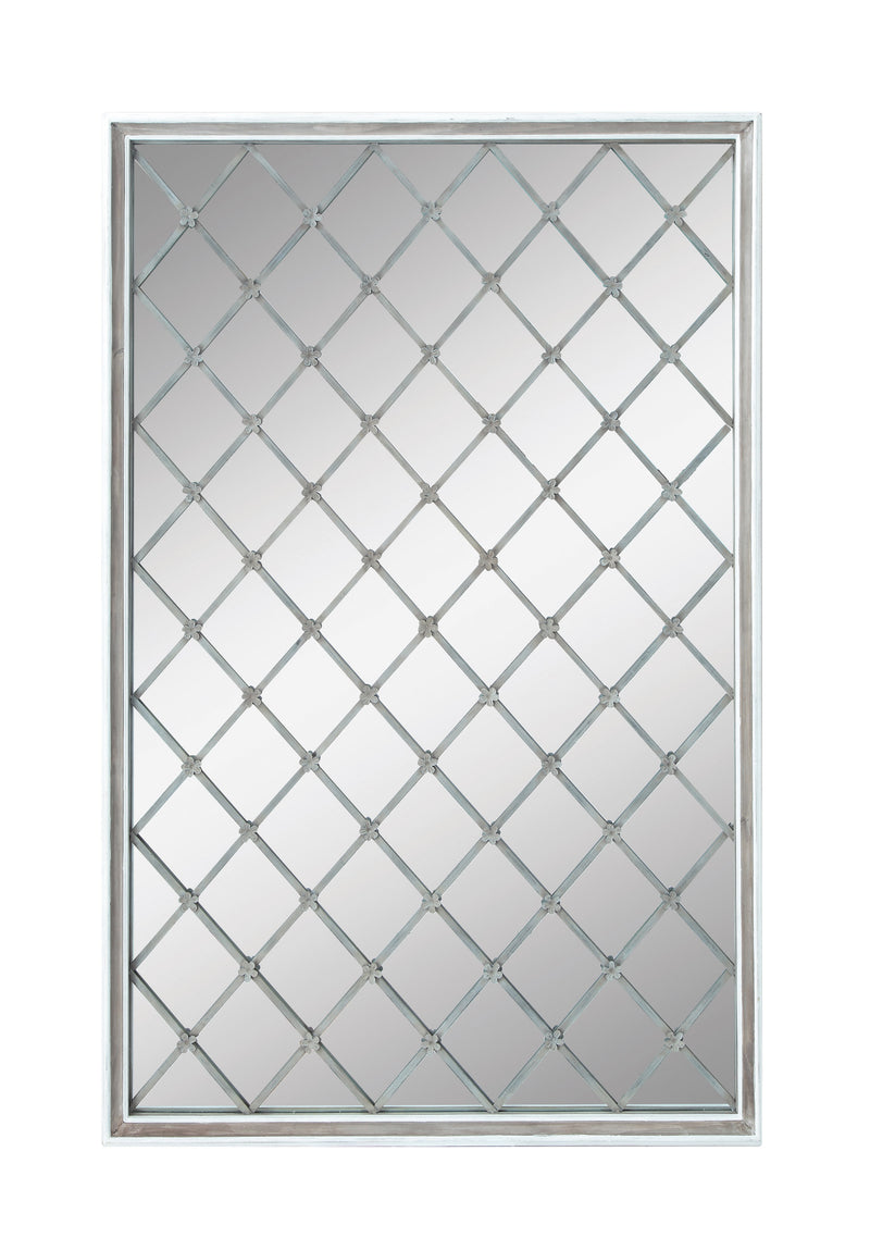 Wall Mirror with Metal Lattice
