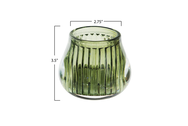 Earth Toned Glass Votive Holder