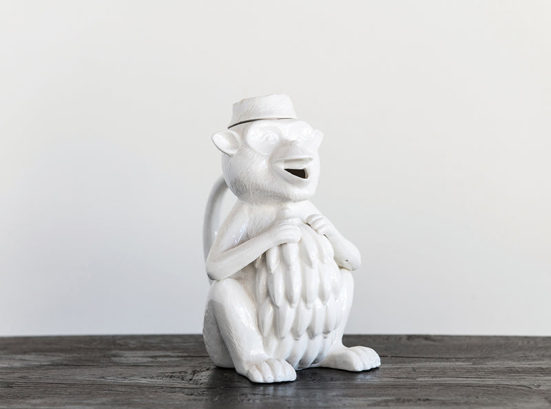 Stoneware Monkey Pitcher