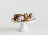 Stoneware Cake Stand with Flowers