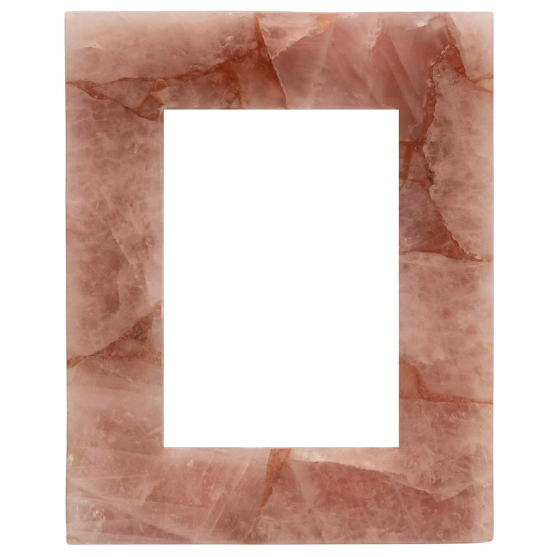 Large Pink Quartz Photo Frame