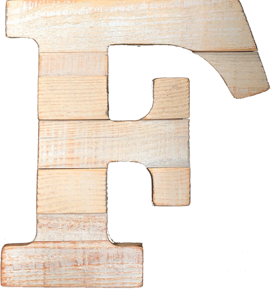 Pine Wood Letter F