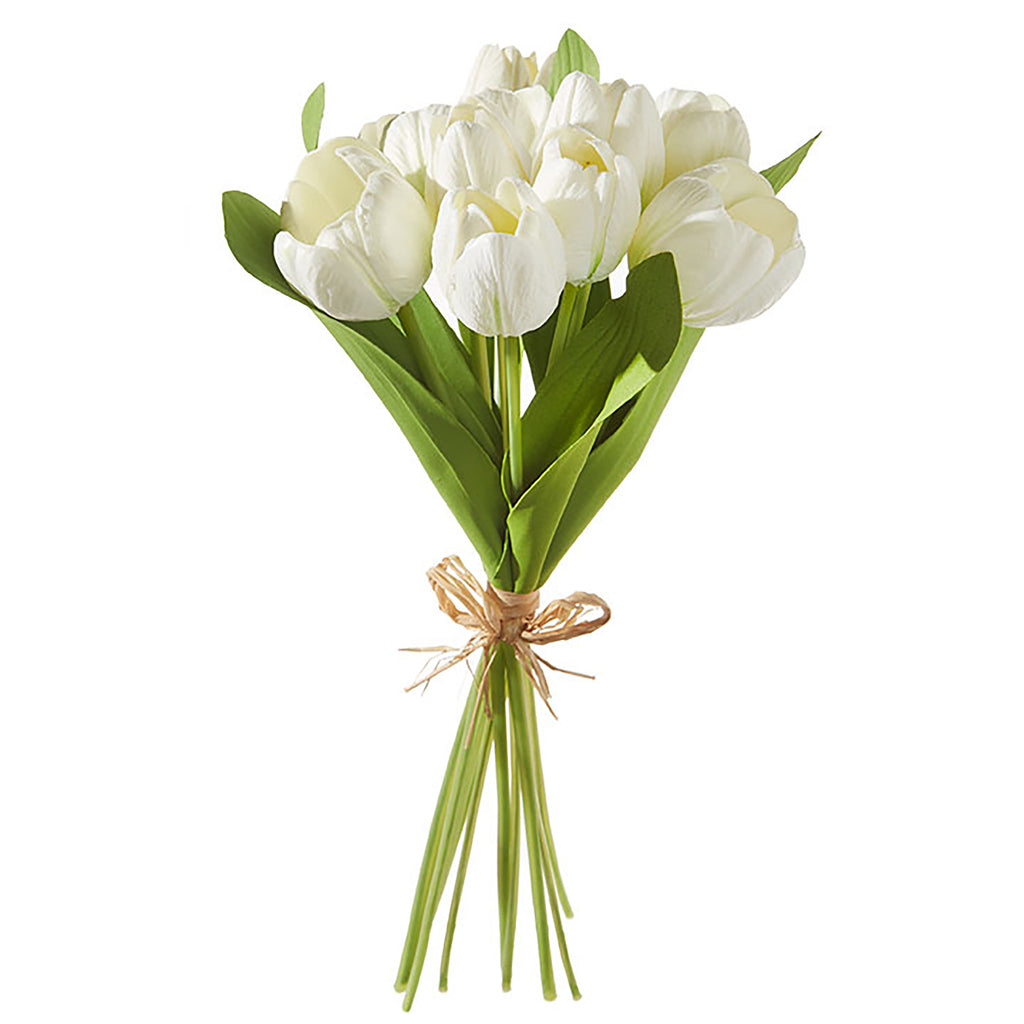 Bundle of White Tulips