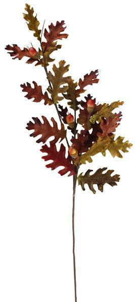 Brown Oak Leaf/Acorn Spray