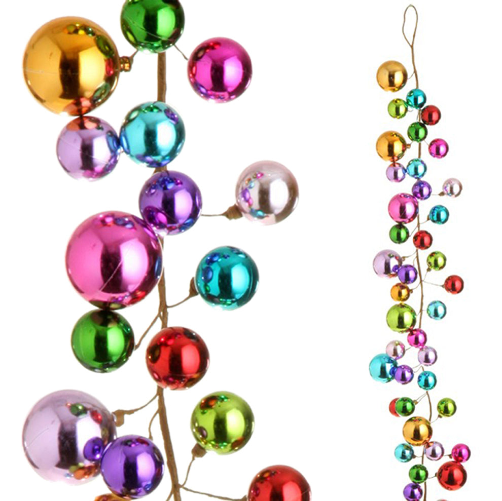 multi color ball christmas garland