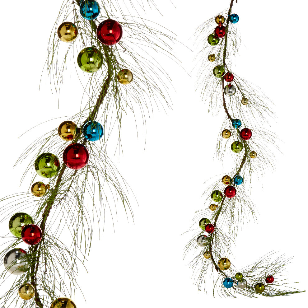 Multi-Colored Christmas Ball Garland