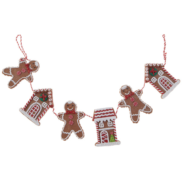 Gingerbread Men and House Garland