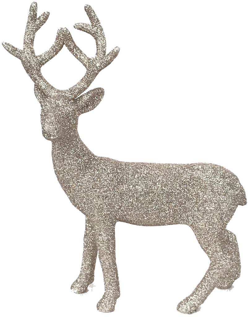 Sparkly Gold Christmas Deer