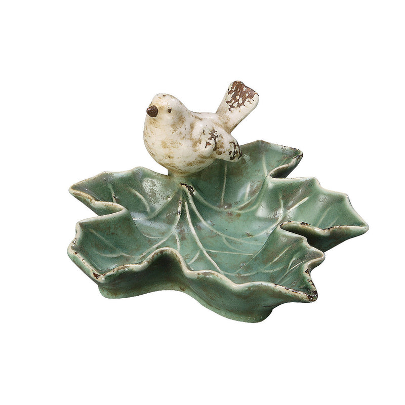 Ceramic Bird and Leaf Dish