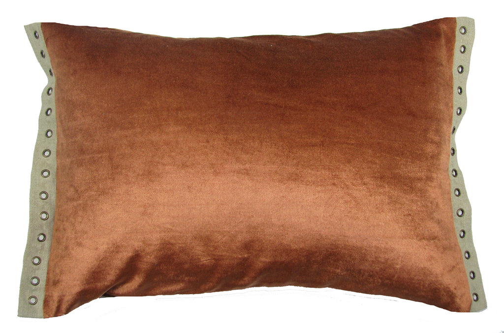 Swanky Terracotta Lumbar Pillow