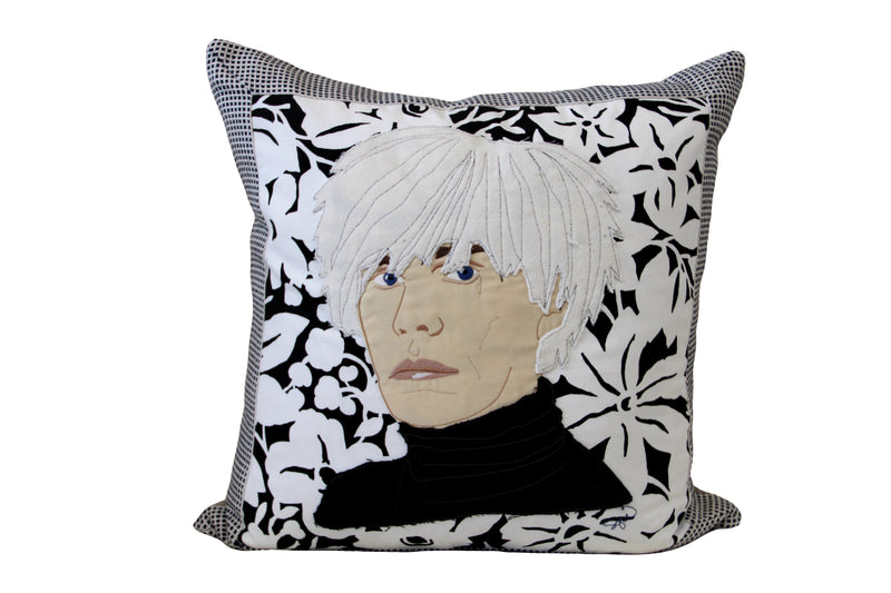 Celebrity Down Throw Pillows - Andy Warhol
