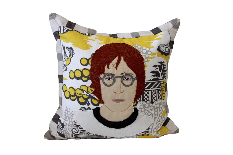 Celebrity Down Throw Pillows - John Lennon