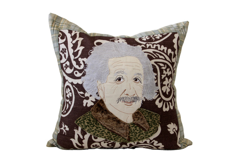Celebrity Down Throw Pillows - Albert Einstein
