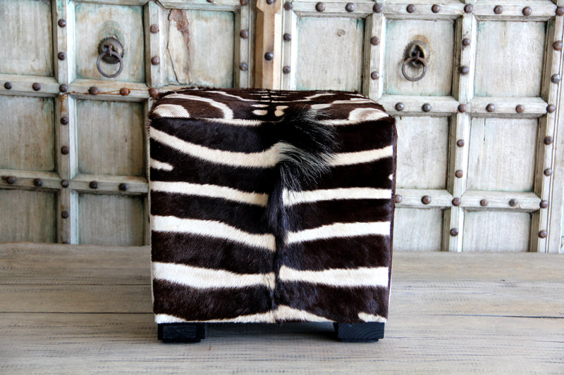 Zebra Octagon Foot Stool