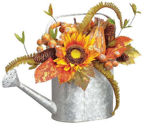 Fall Watering Can Arrangement