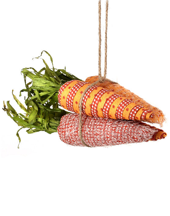 Fabric Wrapped Carrot Bundle