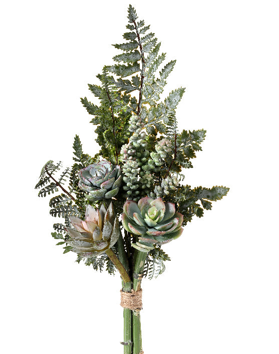 Succulent and Fern Bouquet