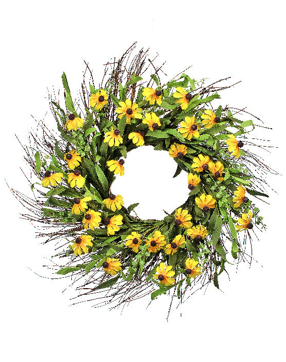 Black Eyed Susan Wreath