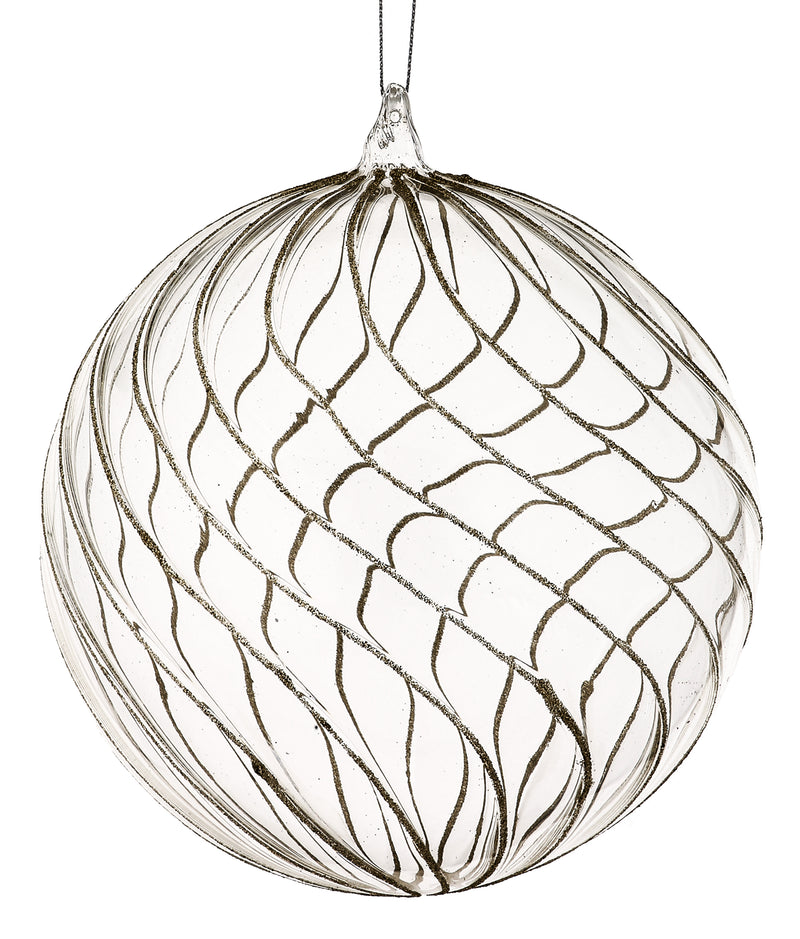 Glass and Champagne Opulent Ball Ornament