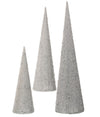 Silver Beaded Sequined Cone Trees