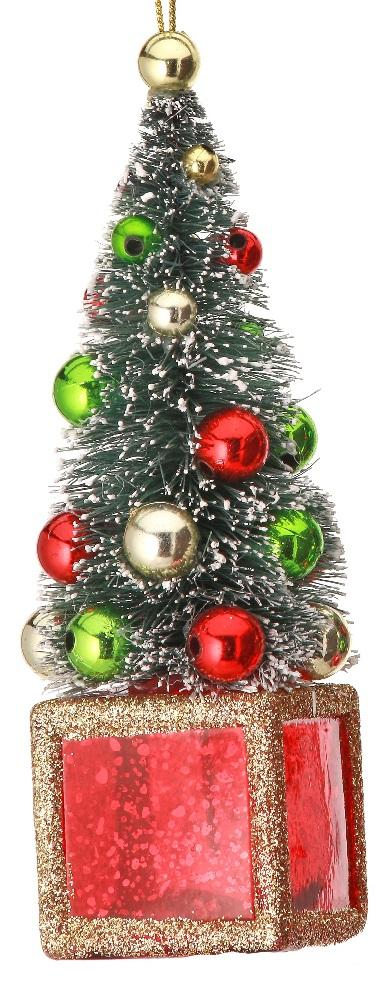 Red Green Gold Deco Tree Ornament