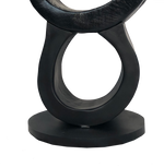 Black Infinity Totem Sculpture