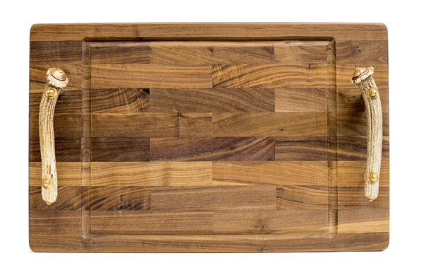 Walnut/Antler Cutting Board - Paul Michael Company