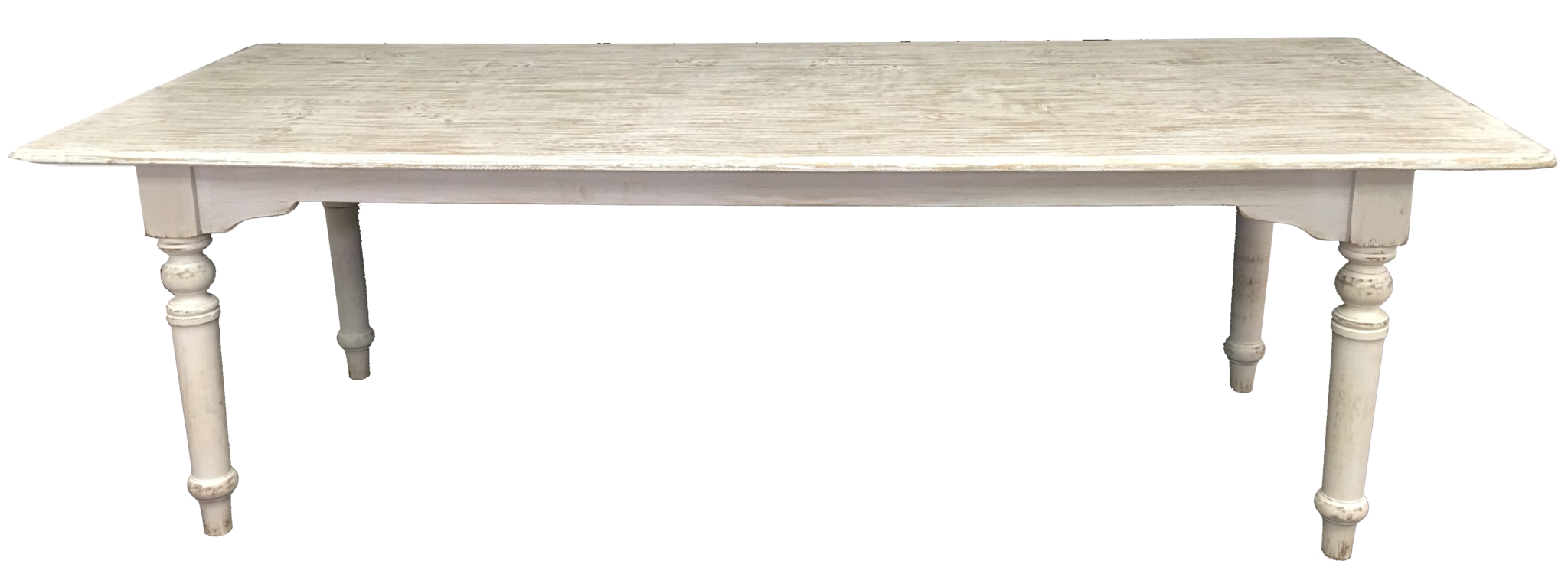 White Wash Oval Pine Dining Table   Paul Michael Company   1