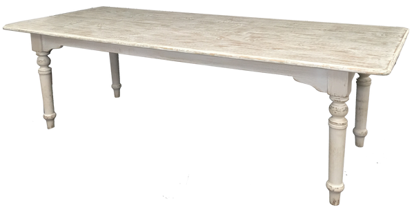 Cream Pine Farm Table 6ft-6.8ft-7ft-8ft - Paul Michael Company - 1