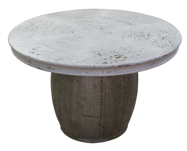 Wood Drum Side Table - Paul Michael Company